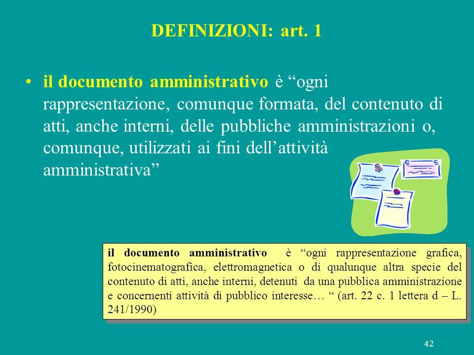 DEFINIZIONI: art. 1