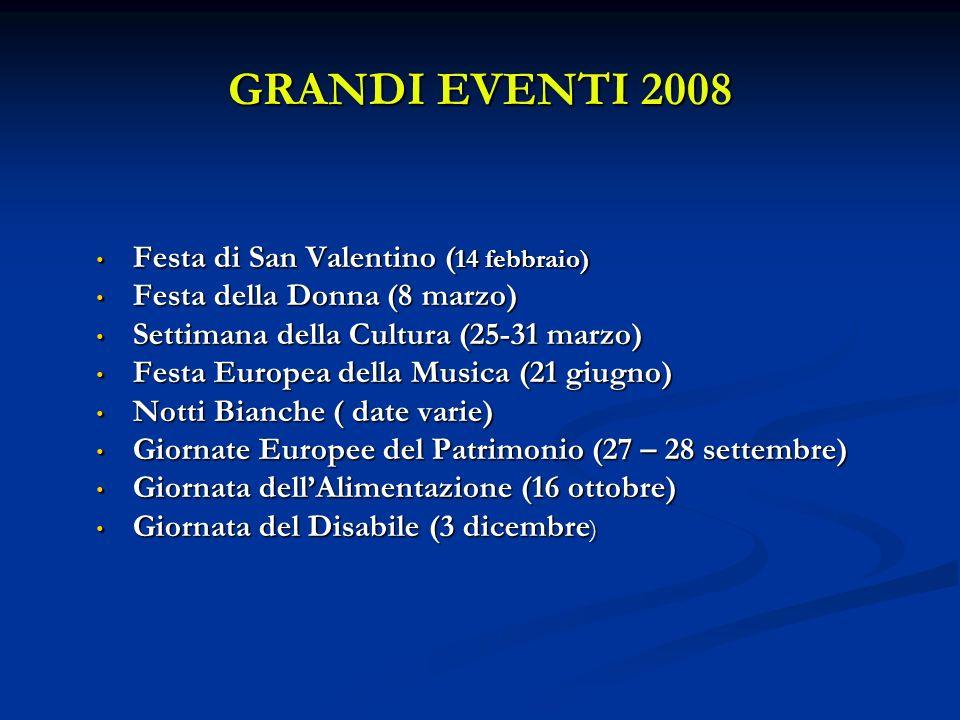 GRANDI EVENTI 2008 Festa di San Valentino (14 febbraio)