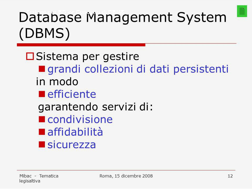 Database Management System (DBMS)