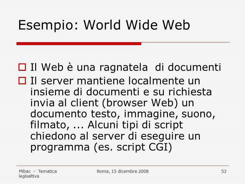 Esempio: World Wide Web