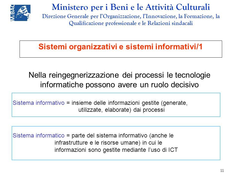 Sistemi organizzativi e sistemi informativi/1