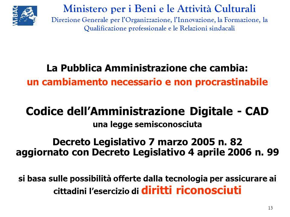 Codice dell'Amministrazione Digitale - CAD