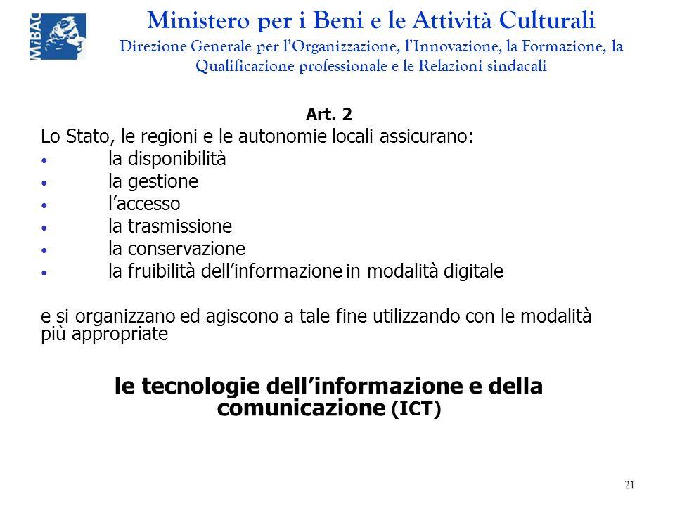 le tecnologie dell'informazione e della comunicazione (ICT)