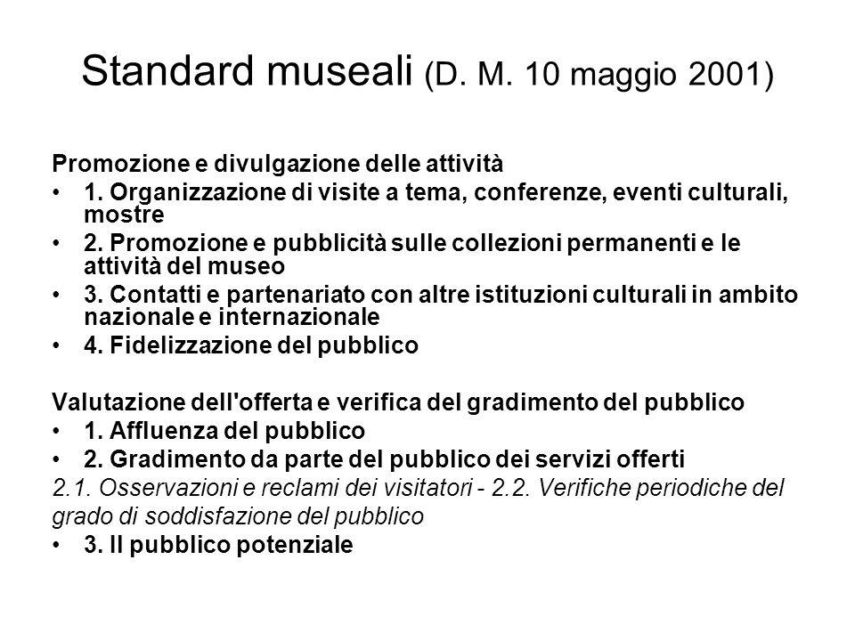 Standard museali (D. M. 10 maggio 2001)