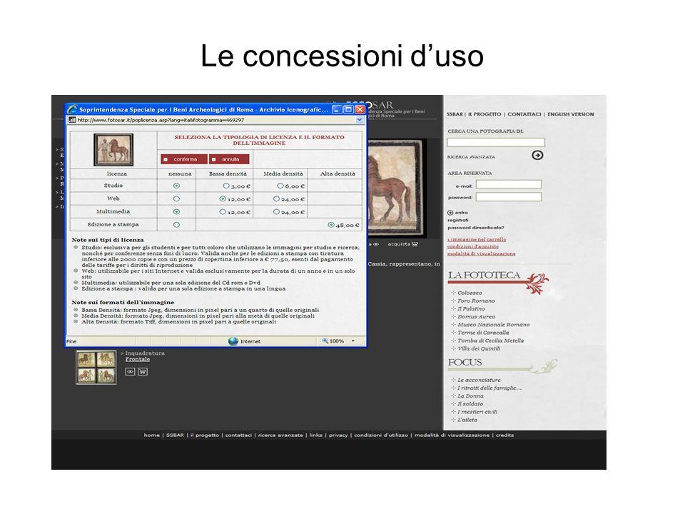 Le concessioni d'uso