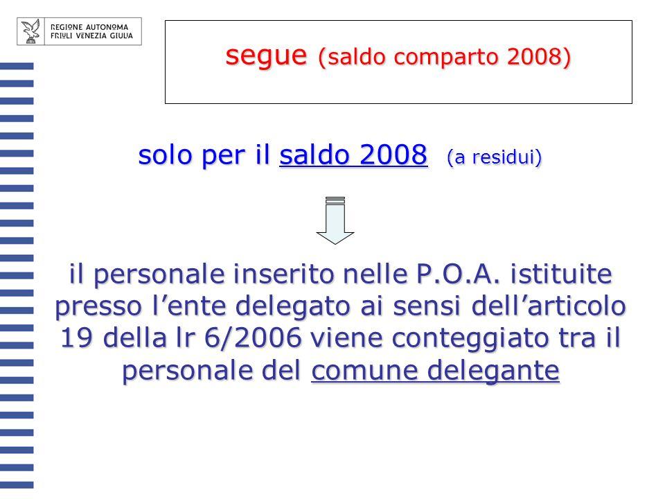 segue (saldo comparto 2008)
