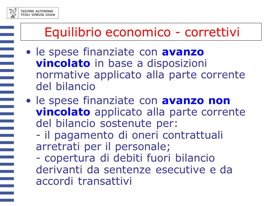 Equilibrio economico - correttivi