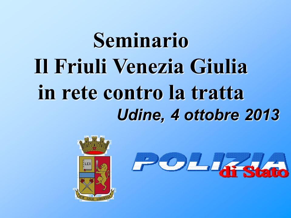 Il Friuli Venezia Giulia in rete contro la tratta