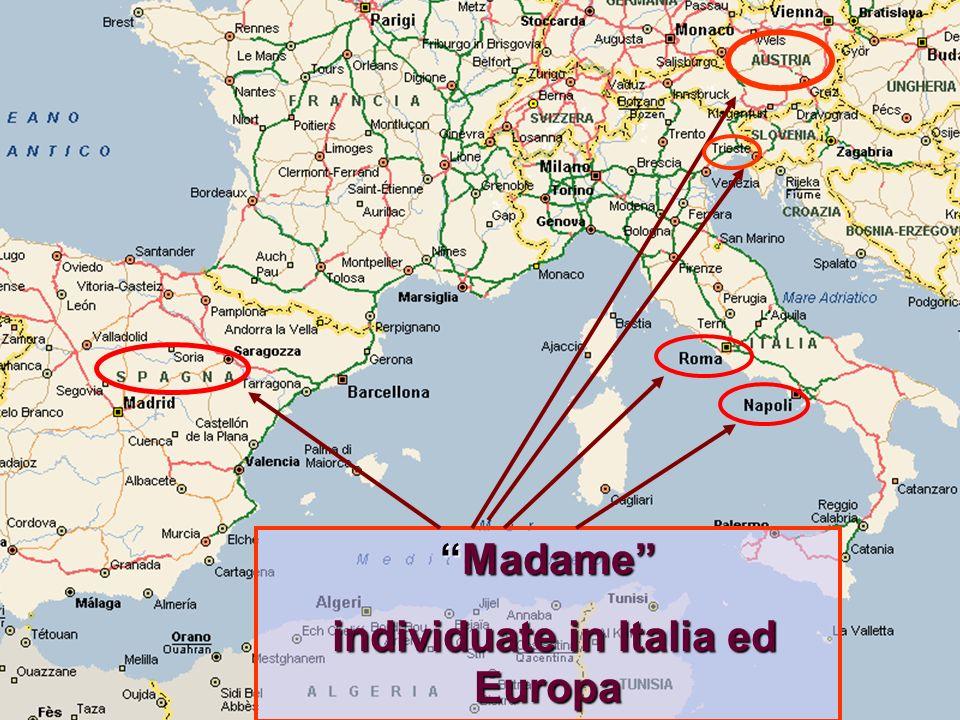 individuate in Italia ed Europa