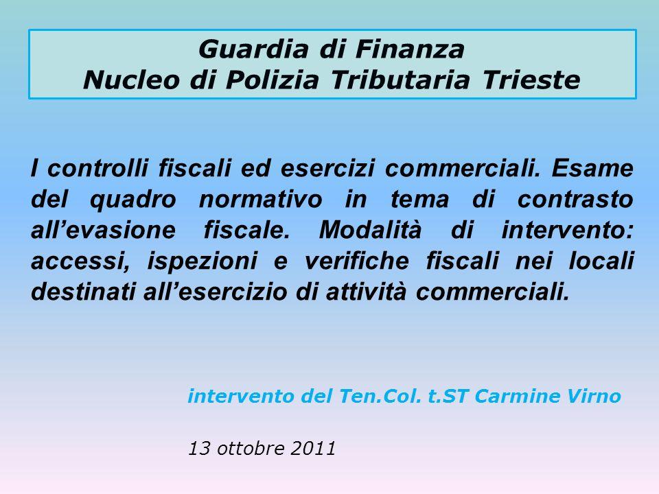 Guardia di Finanza Nucleo di Polizia Tributaria Trieste