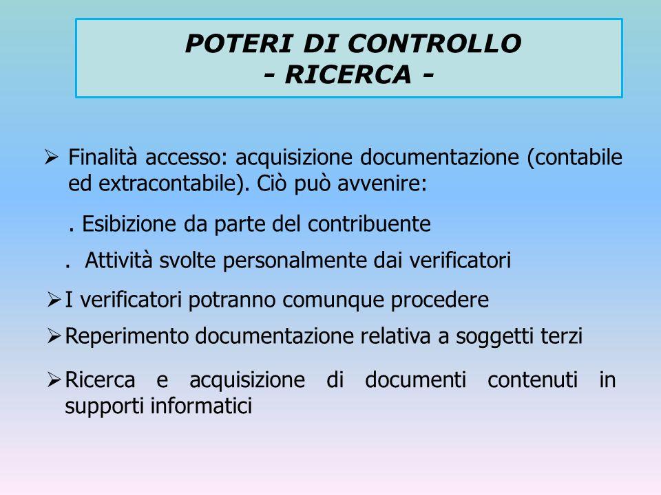 POTERI DI CONTROLLO - RICERCA -