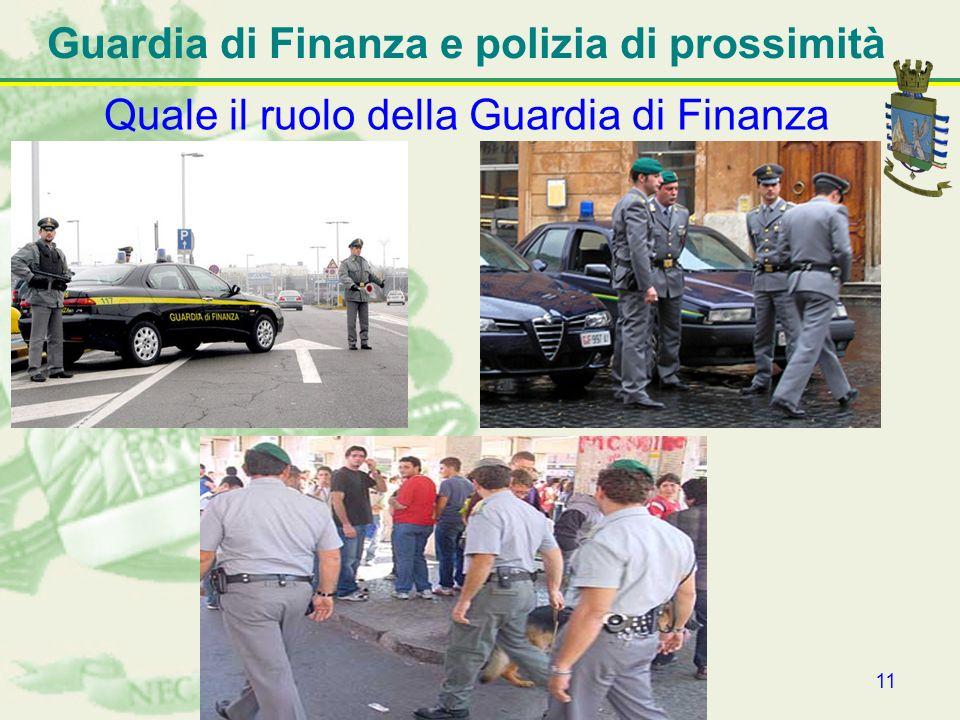 Guardia di Finanza e polizia di prossimità
