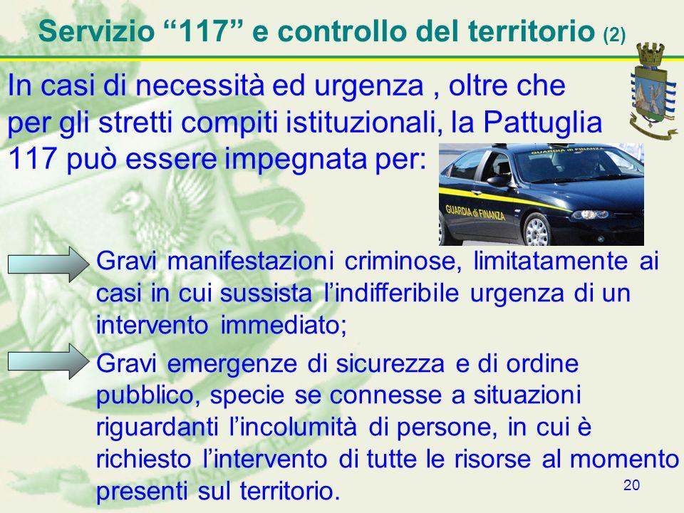 Servizio 117 e controllo del territorio (2)