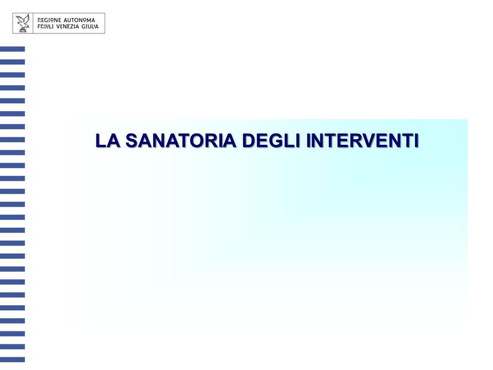 LA SANATORIA DEGLI INTERVENTI
