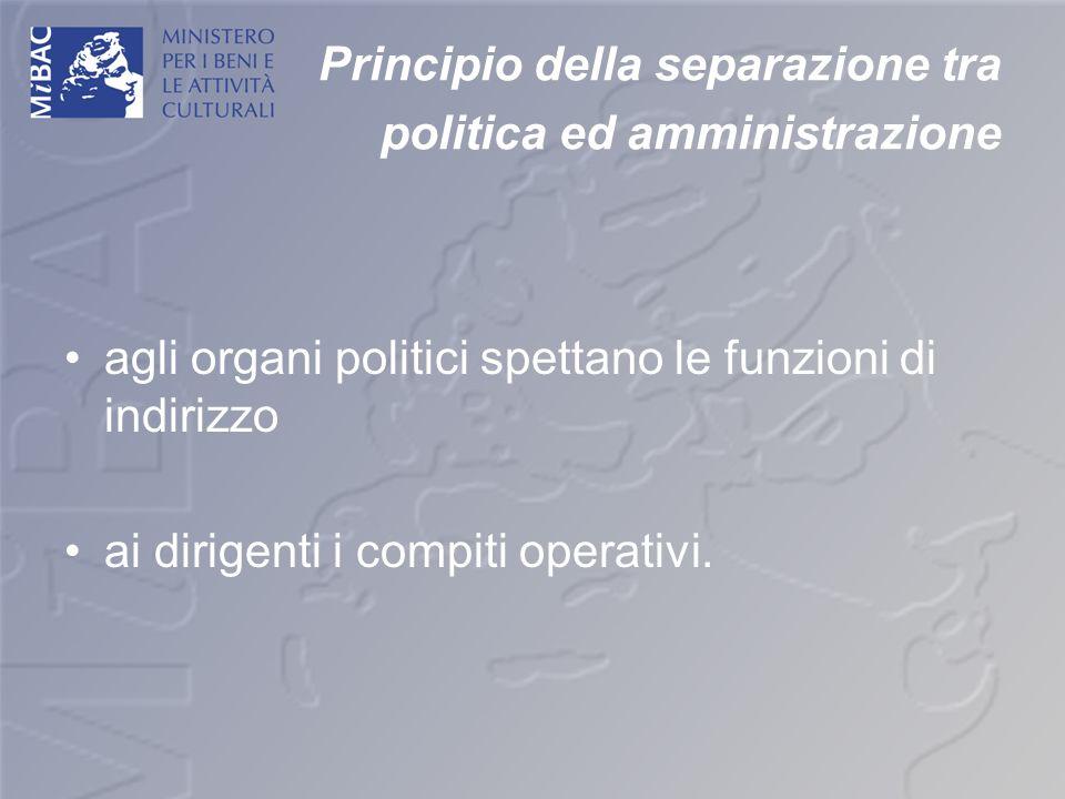 Principio della separazione tra politica ed amministrazione