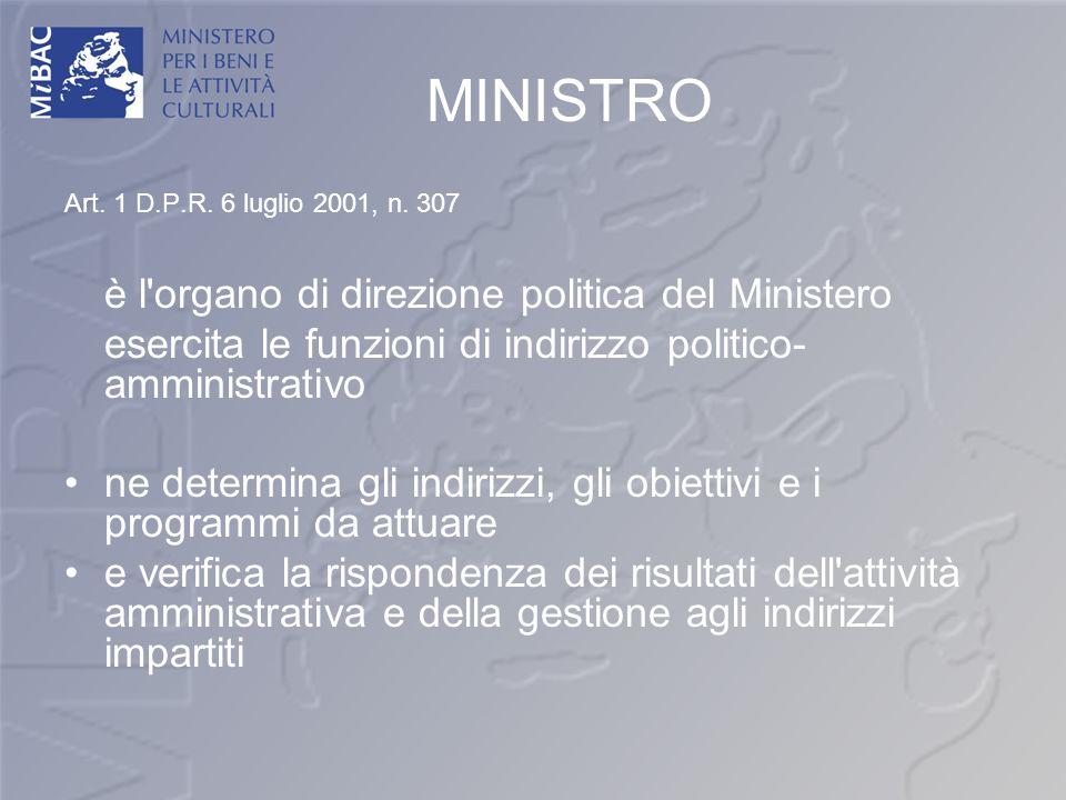 è l organo di direzione politica del Ministero