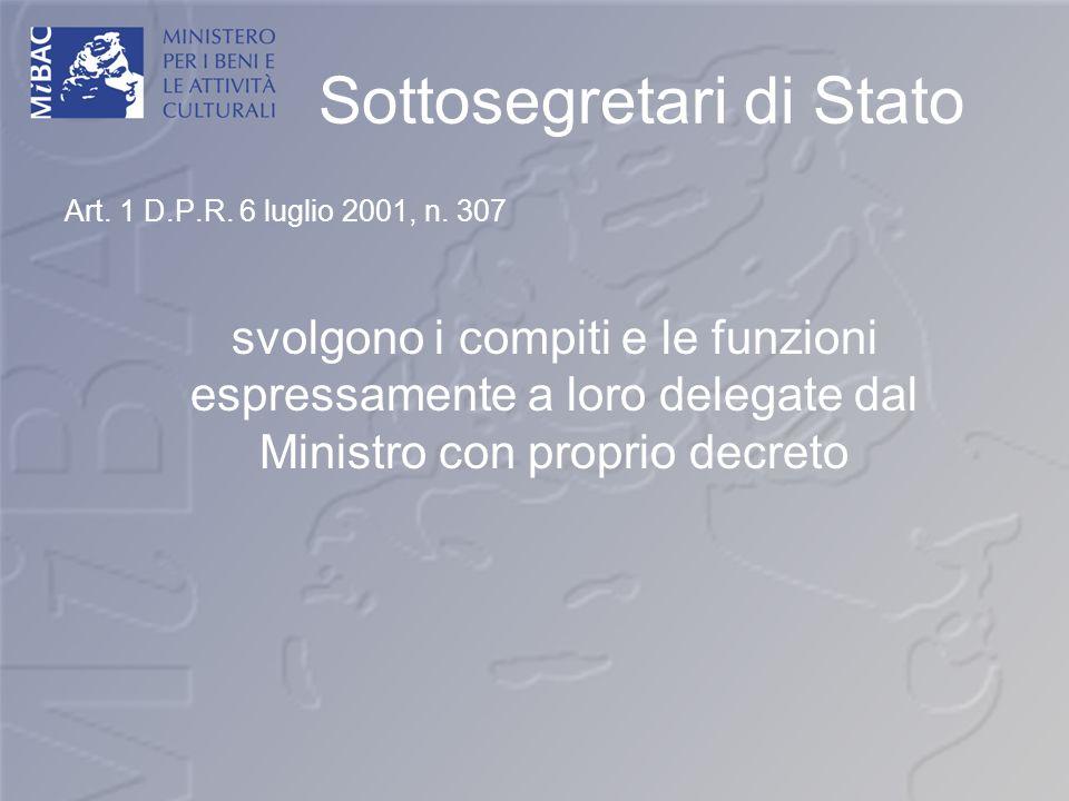 Sottosegretari di Stato
