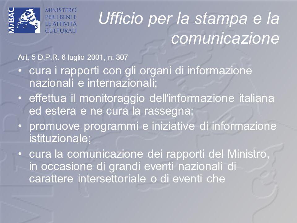 Ufficio per la stampa e la comunicazione