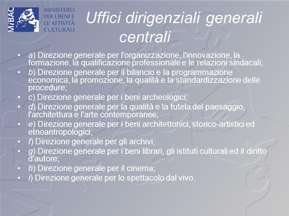 Uffici dirigenziali generali centrali