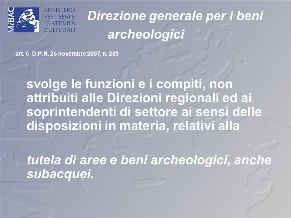 Direzione generale per i beni archeologici