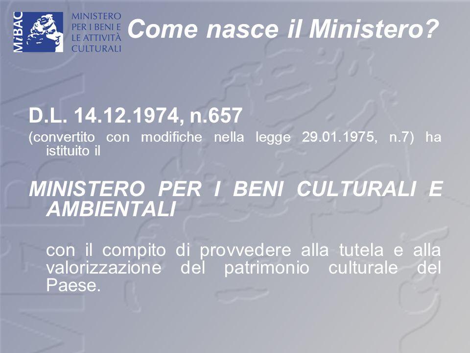 Come nasce il Ministero