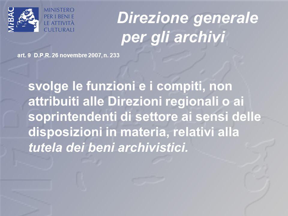 Direzione generale per gli archivi