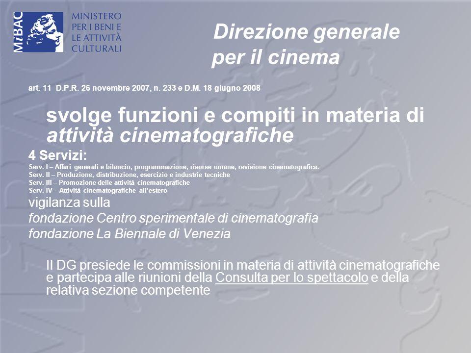 Direzione generale per il cinema