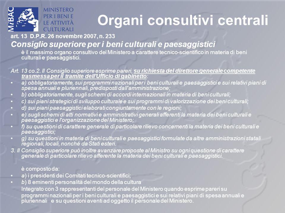 Organi consultivi centrali