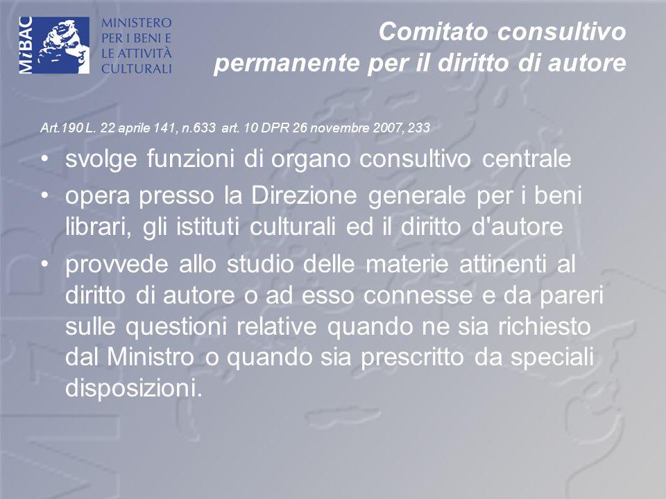 Comitato consultivo permanente per il diritto di autore