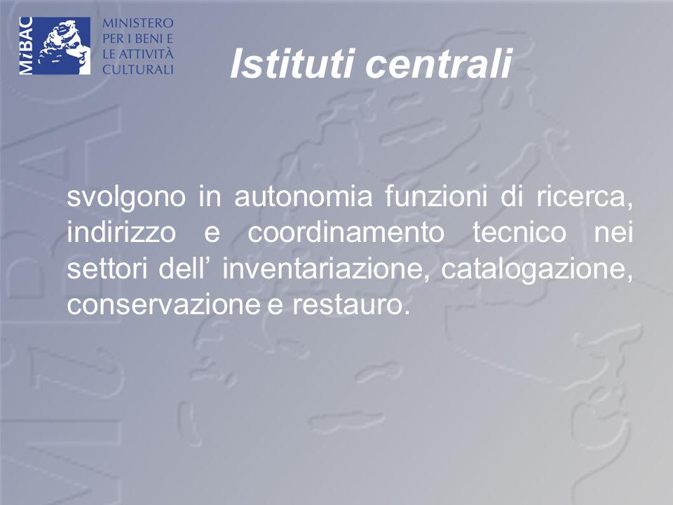 Istituti centrali