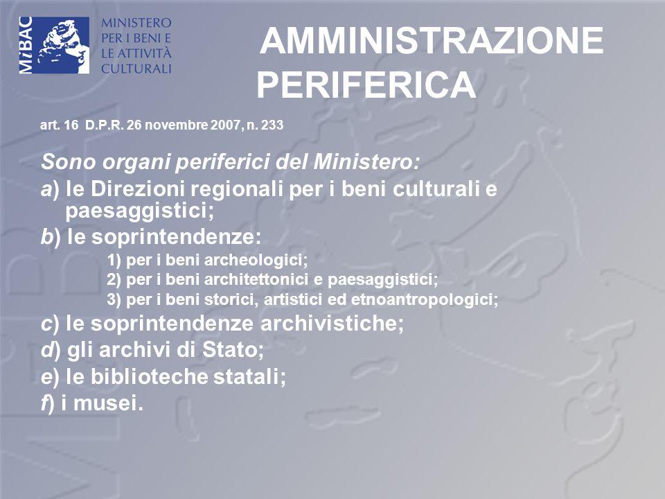 AMMINISTRAZIONE PERIFERICA