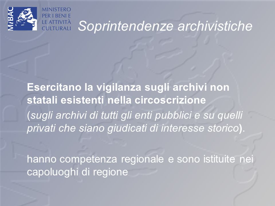 Soprintendenze archivistiche