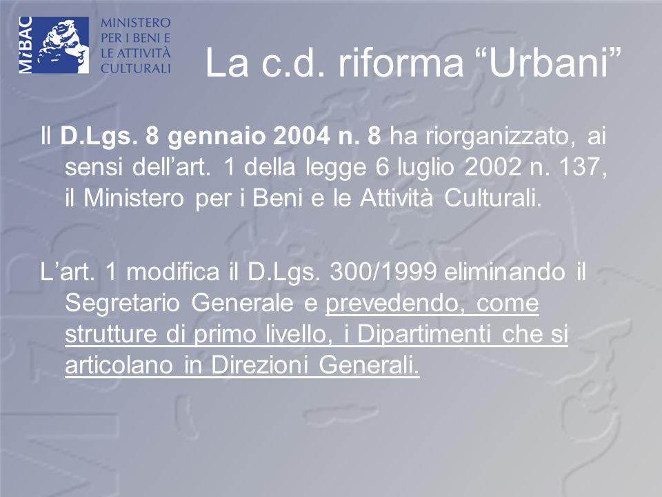 La c.d. riforma Urbani