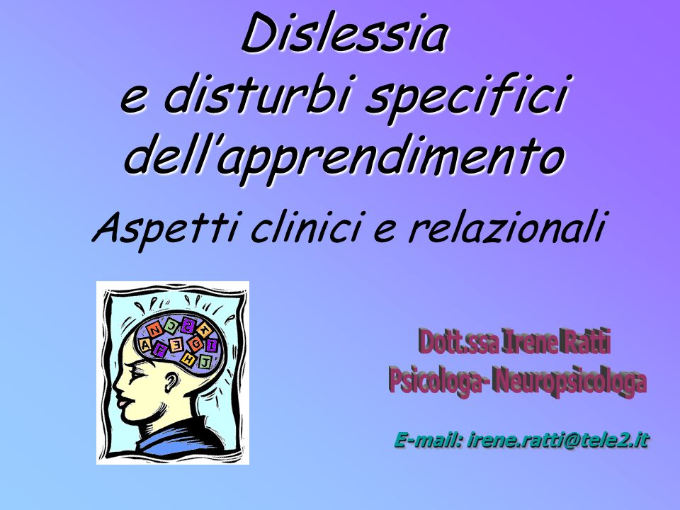 Dislessia e disturbi specifici dell'apprendimento