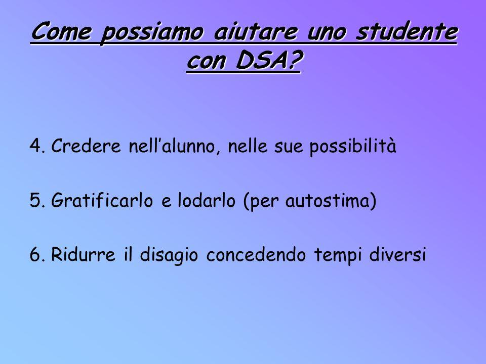 Come possiamo aiutare uno studente con DSA