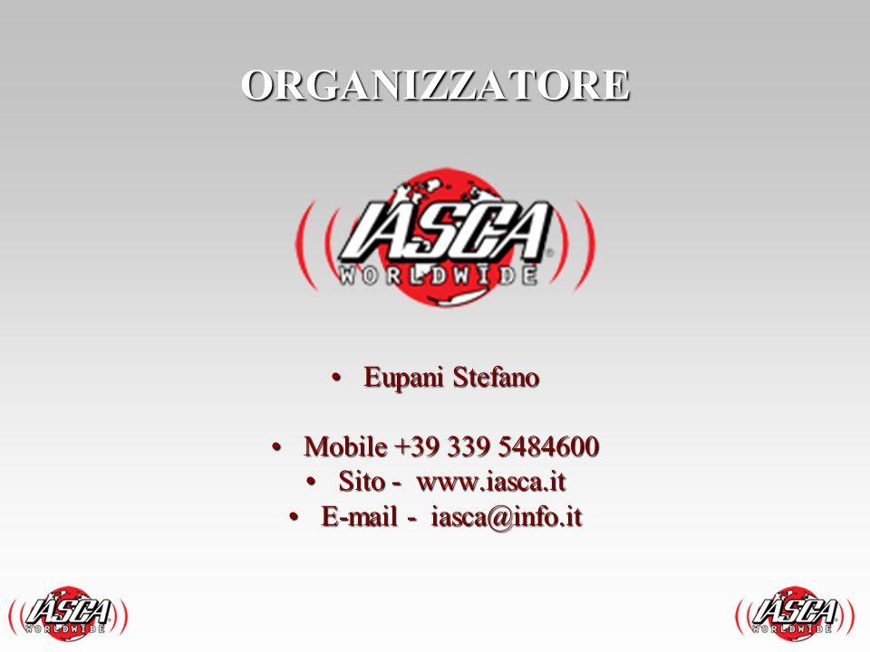 ORGANIZZATORE Eupani Stefano Mobile +39 339 5484600