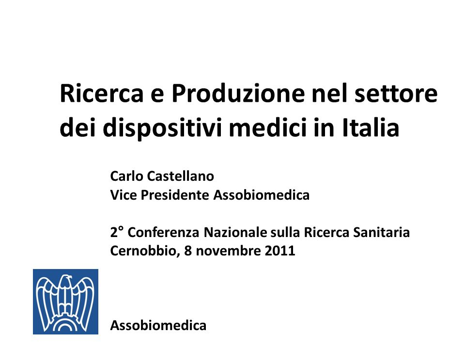 Ricerca e Produzione nel settore dei dispositivi medici in Italia