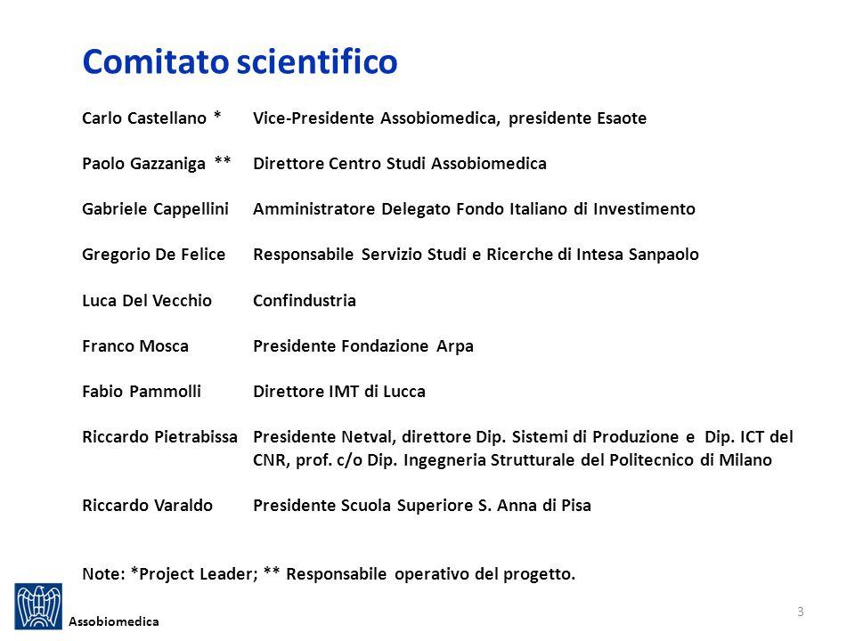 Comitato scientifico Carlo Castellano * Vice-Presidente Assobiomedica, presidente Esaote. Paolo Gazzaniga ** Direttore Centro Studi Assobiomedica.