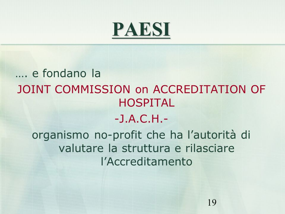 JOINT COMMISSION on ACCREDITATION OF HOSPITAL