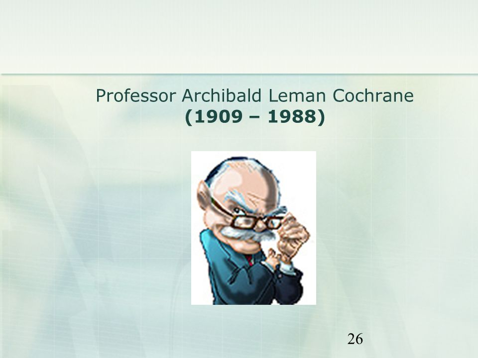 Professor Archibald Leman Cochrane (1909 – 1988)