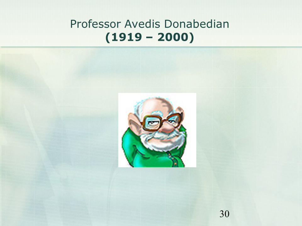 Professor Avedis Donabedian (1919 – 2000)