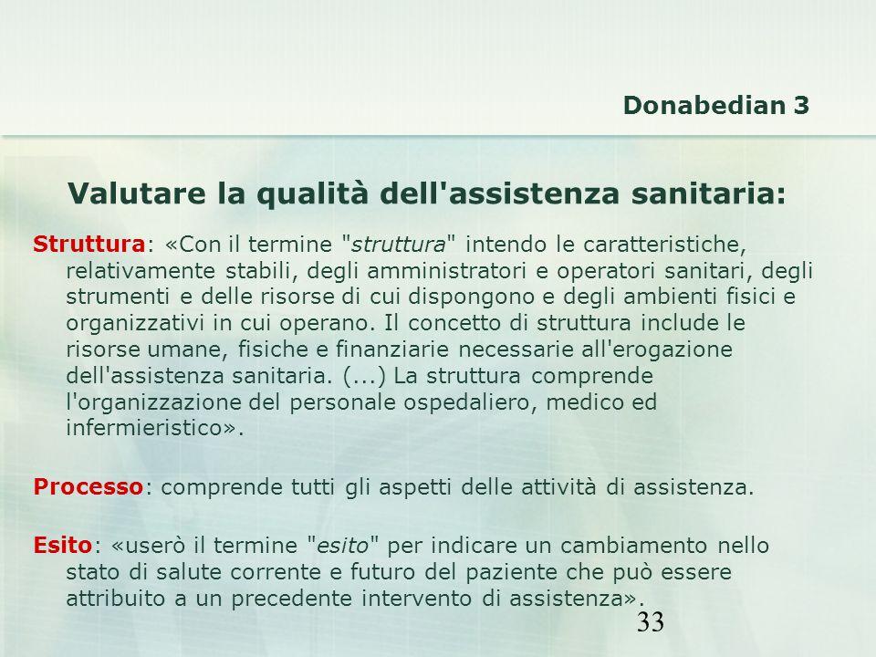 Valutare la qualità dell assistenza sanitaria: