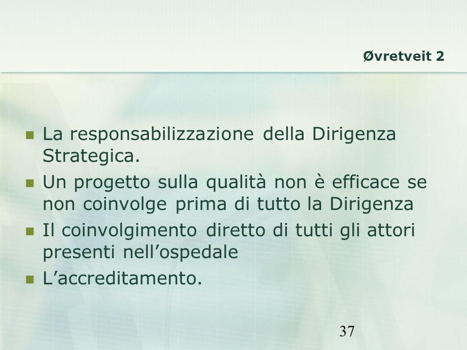 La responsabilizzazione della Dirigenza Strategica.