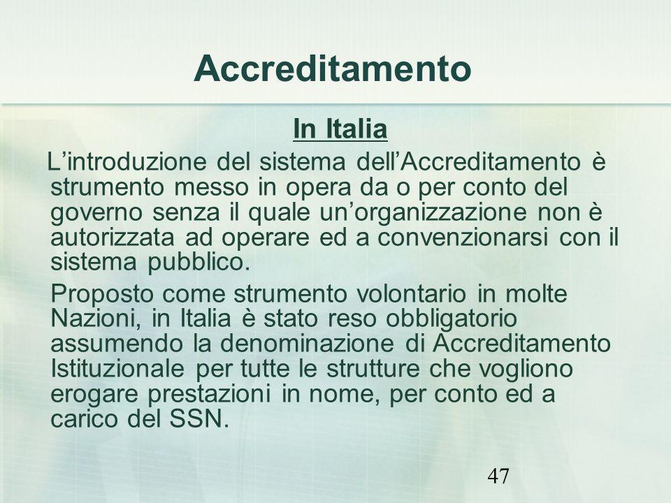 Accreditamento In Italia