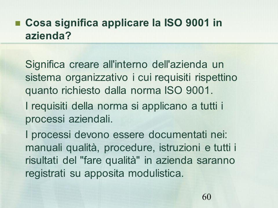 Cosa significa applicare la ISO 9001 in azienda