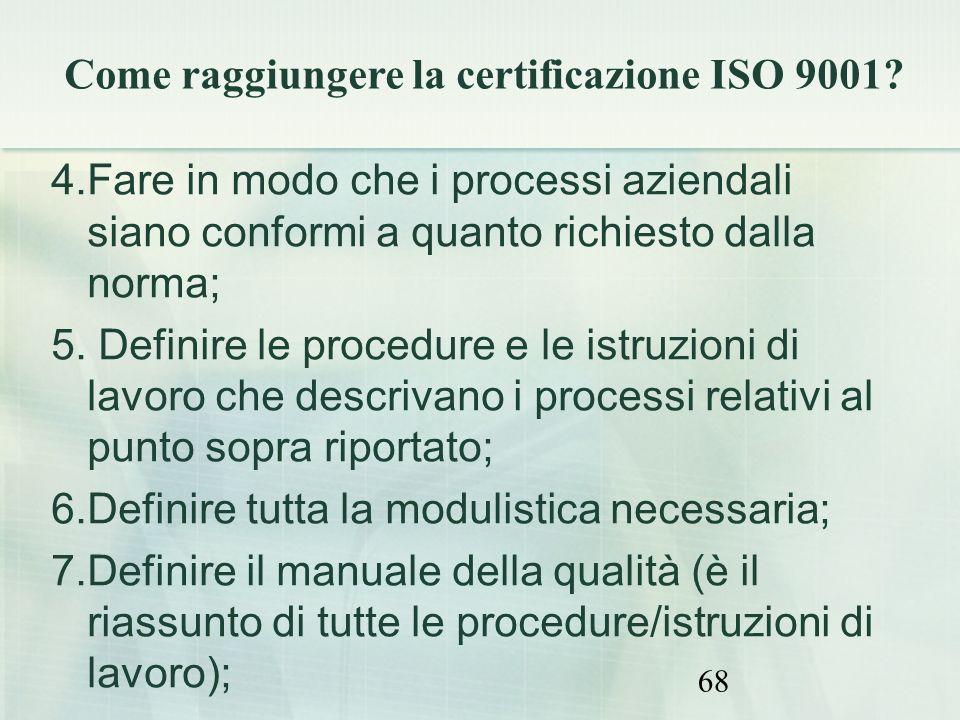 Come raggiungere la certificazione ISO 9001