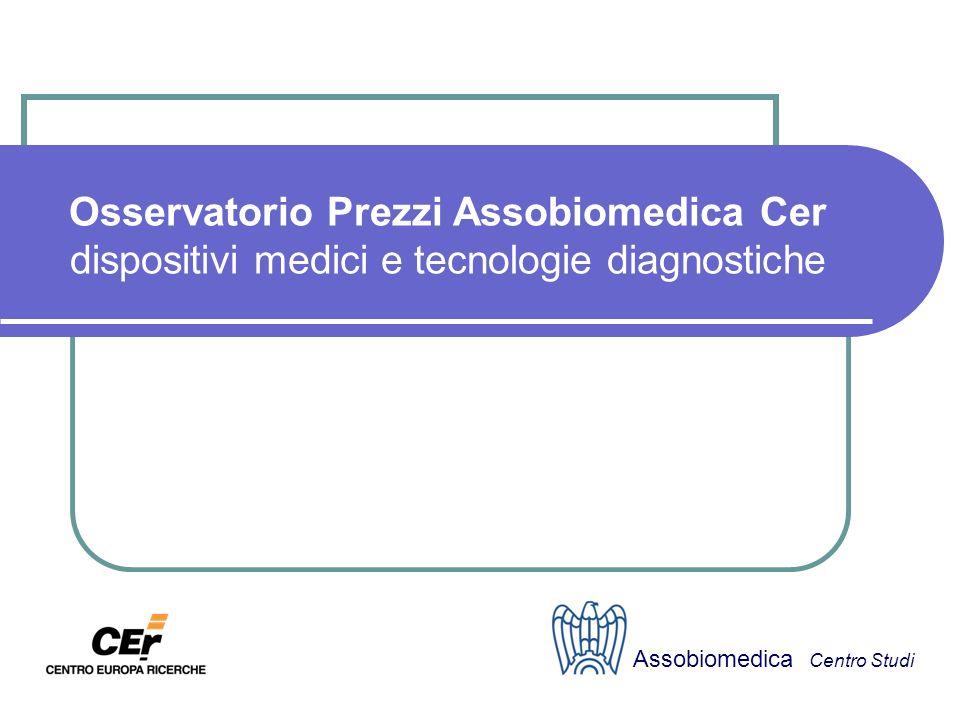 Osservatorio Prezzi Assobiomedica Cer dispositivi medici e tecnologie diagnostiche