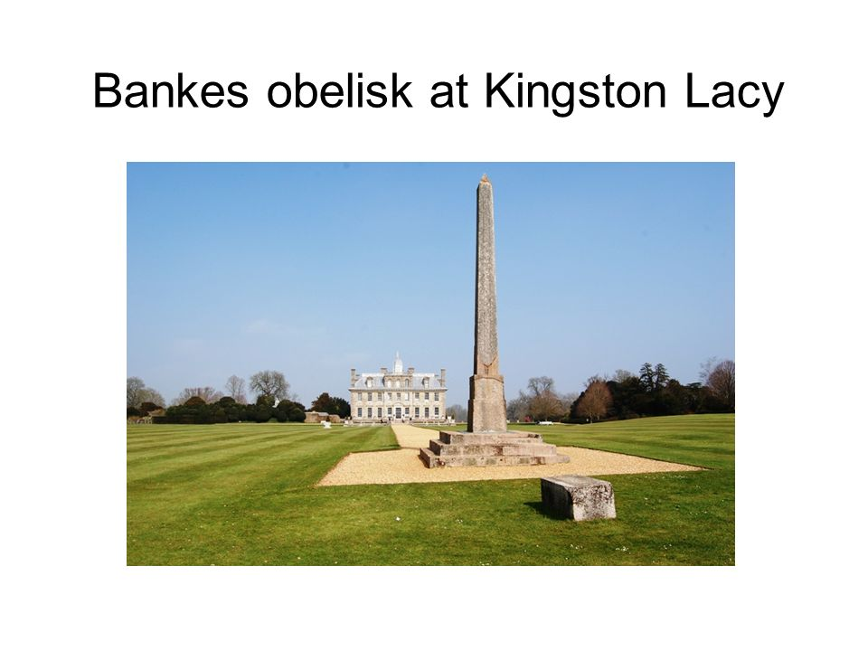 Bankes obelisk at Kingston Lacy