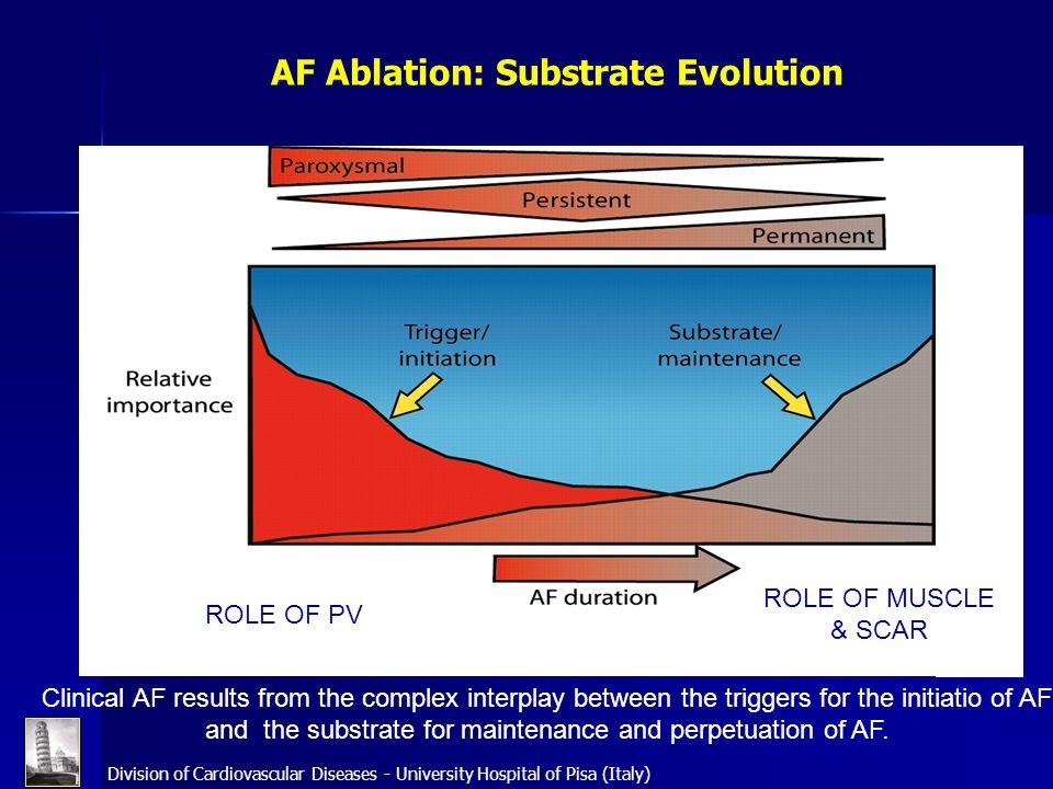 AF Ablation: Substrate Evolution