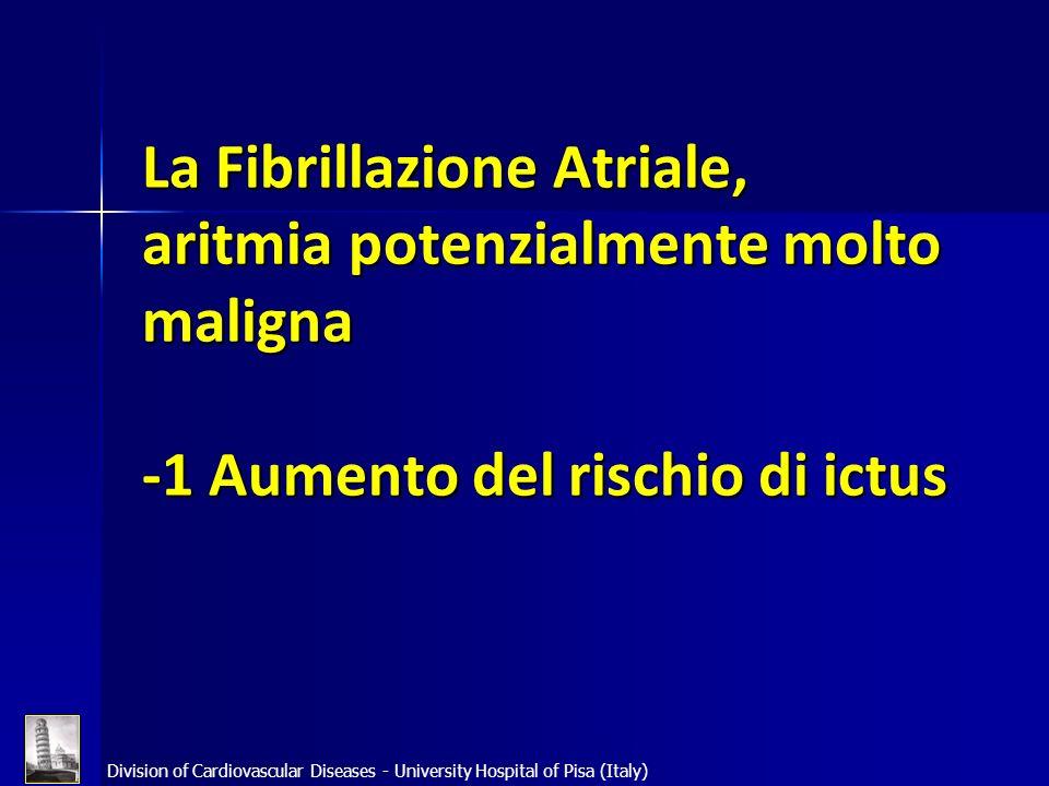 La Fibrillazione Atriale, aritmia potenzialmente molto maligna -1 Aumento del rischio di ictus